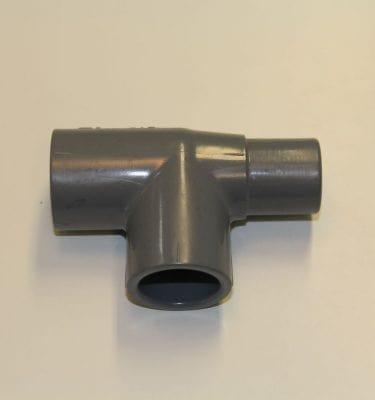 """3/4"""" (inch) T connector Spigot X Slip X Slip"""
